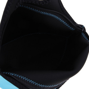 Синя изолирана неопренова чанта за обяд с цип