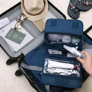 Органайзер за козметични принадлежности подходящ за пътуване
