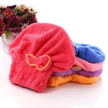 Хавлиена кърпа за глава тип Тюрбан - произволен цвят