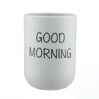 Пластмасова чаша с надпис за четки за зъби