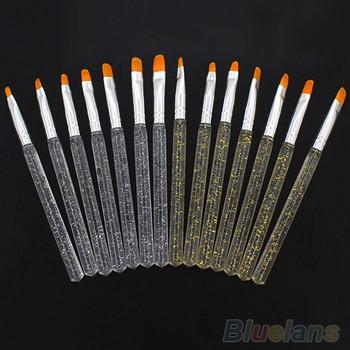 Комплект от седем броя професионални четки за UV гел с различни размери