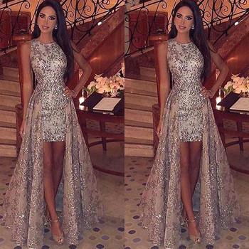 Нов модел елегантна дамска рокля с лъскав ефект