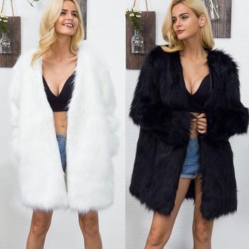 НОВ модел дълго зимно дамско палто с дълъг ръкав