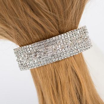 Елегантна дамска шнола за коса с камъни