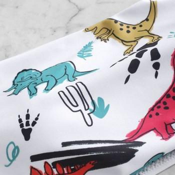 Бански костюм от две части с горнище тип лента и динозаври
