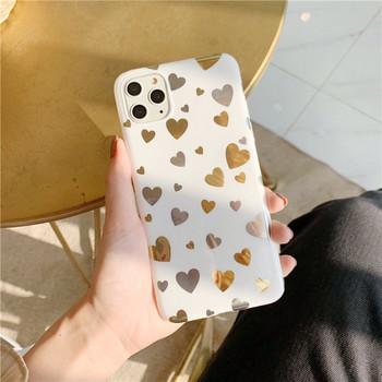 Силиконов калъф на сърца за iPhone 11 Pro Max