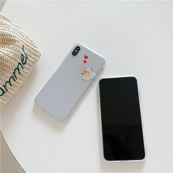 Прозрачен силиконов калъф с мечета за iPhone XS - два модела
