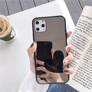 Огледален калъф със сърце  и надпис be loved  за iPhone 11 Pro Max