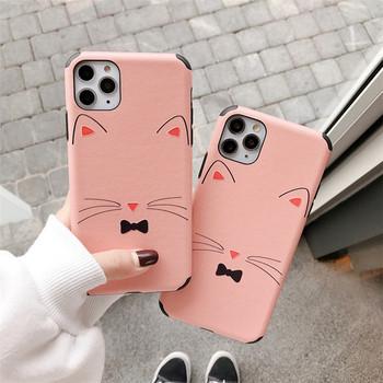 Силиконов калъф за iPhone 11 Pro Max в розов цвят