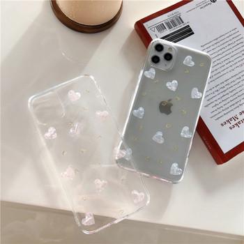 Силиконов калъф за iPhone 11 Pro Max със сърца