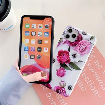 Калъф за iPhone 11 Pro Max с флорален десен и пръстен - два модела