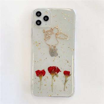 Прозрачен калъф с ангел и лъскави златни частици за iPhone 11 Pro Max