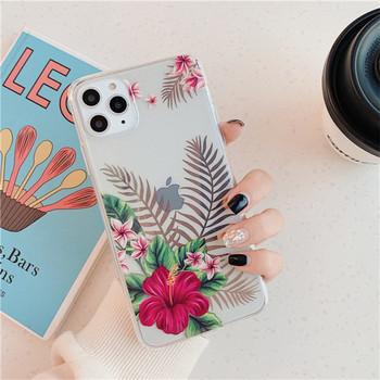 Калъф за iPhone 11 Pro Max с флорален десен - два модела