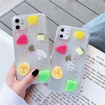 Калъф за iPhone 11   с 3D плодове
