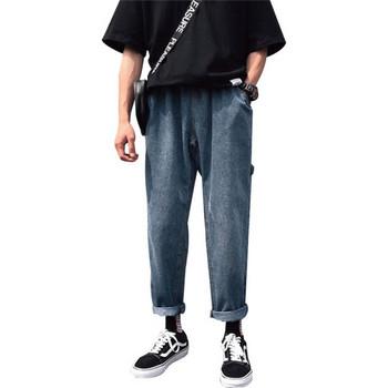 Мъжки широки ежедневни дънкови панталони