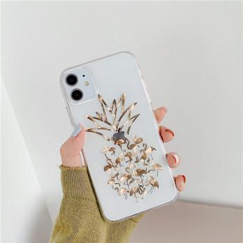 Прозрачен калъф с фламинго за iPhone 11