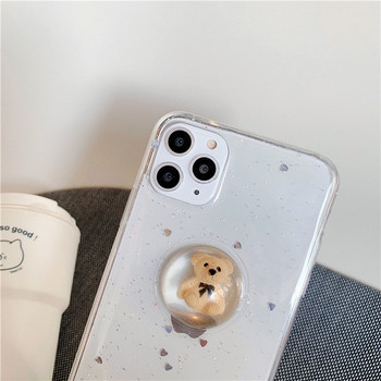 Силиконов калъф с мече и лъскави частици за  iPhone 11 Pro Max
