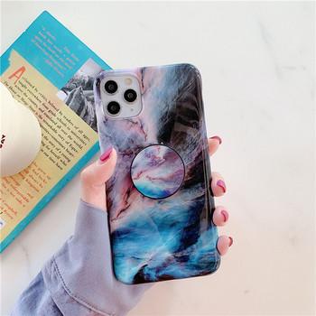 Калъф с мраморен ефект и пръстен за Iphone 11 Pro Max