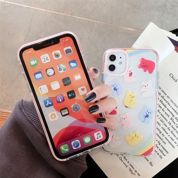 Прозрачен силиконов калъф с мечета за iPhone 11 - два модела