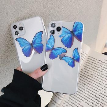 Прозрачен калъф с пеперуди за iPhone 11 Pro Max  - два модела