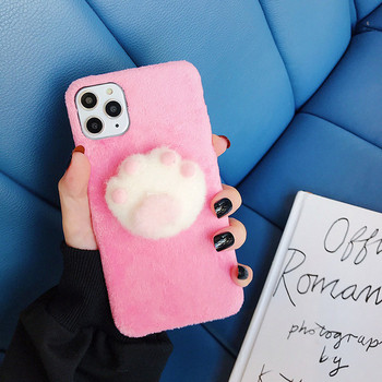 Плюшен калъф с 3D елемент в розов цвят за iPhone 11 Pro Max