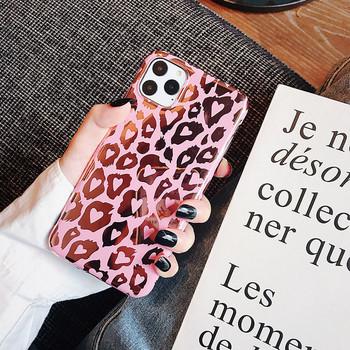 Калъф с леопардов десен за iPhone 11 Pro Max в розов цвят