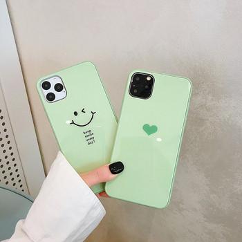 Силиконов калъф за iPhone 11 Pro Max в зелен цвят - два модела