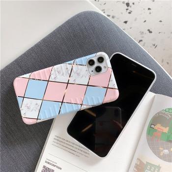 Силиконов калъф за iPhone 11 Pro Max с геометрични фигури