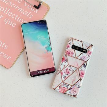 Силиконов калъф за Samsung S10 с флорален десен