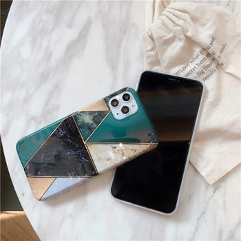 Калъф за  iPhone 11 Pro Max с геометрични фигури и мраморен ефект