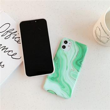Силиконов калъф с мраморен ефект за iPhone 11