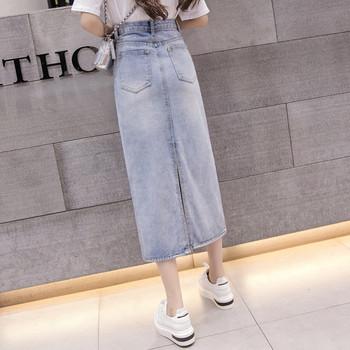 Γυναικεία φούστα denim κλασικό μοντέλο