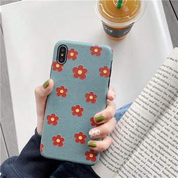 Силиконов калъф за iPhone XS с цветя
