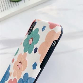 Калъф с цветни цветя за iPhone XS