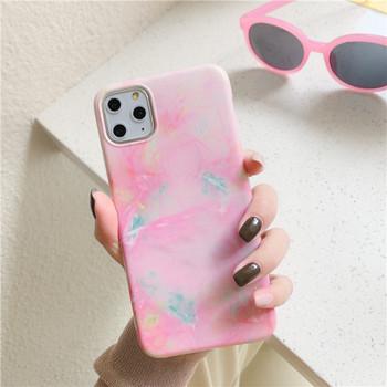 Калъф за iPhone 11 Pro Max  с мраморен ефект в розов цвят