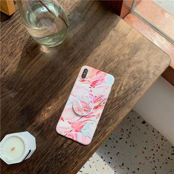 Многоцветен силиконов калъф за iPhone XS с пръстен