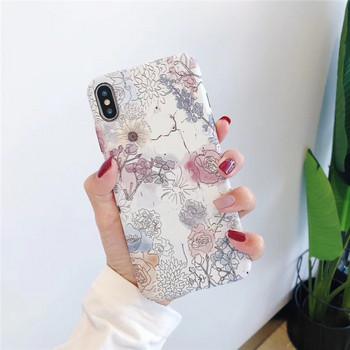 Твърд гръб за  iPhone XS  с цветя - два модела