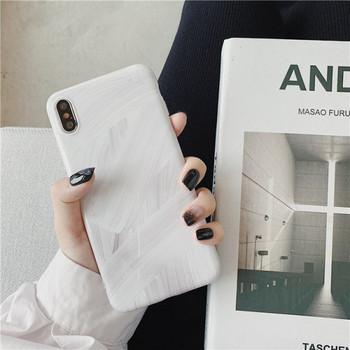 Мраморен калъф с държач за  iPhone XS