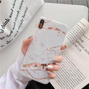 Калъф за  iPhone XS  с мраморен ефект