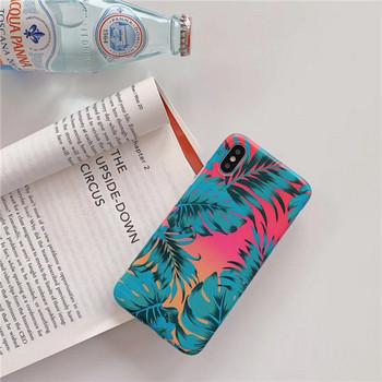 Многоцветен калъф с флорален десен за  iPhone XS