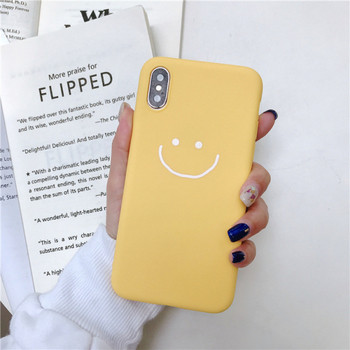 Матов калъф за iPhone XS с усмивка