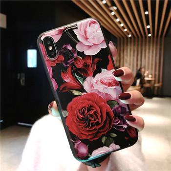 Калъф за iPhone XS с флорален десен -два модела
