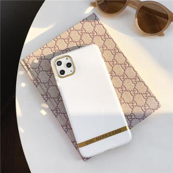 Калъф за iPhone 11 Pro Max в бял цвят с лъскав ефект