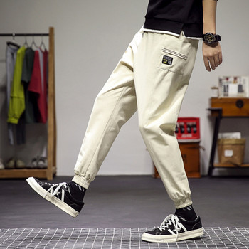 Мъжки пролетен панталон с джоб и връзки
