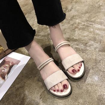 Ежедневни дамски сандали от еко велур
