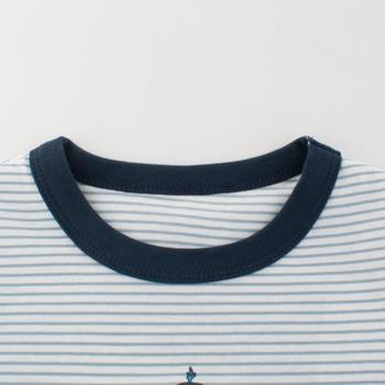 Раирана детска тениска с къс ръкав за момчета