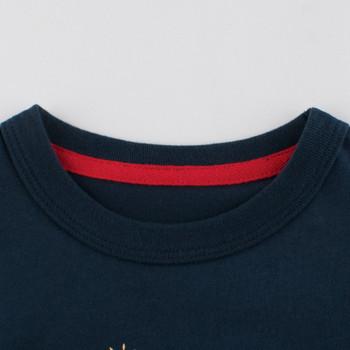 Детска тениска с апликация и къс ръкав за момчета