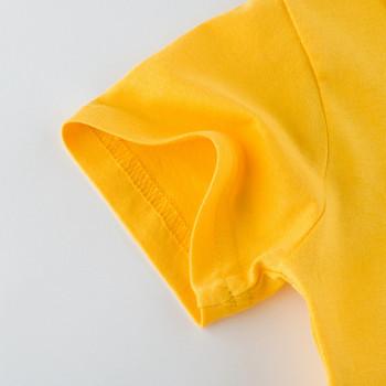 Детска тениска с апликация и обло деколте-за момчета