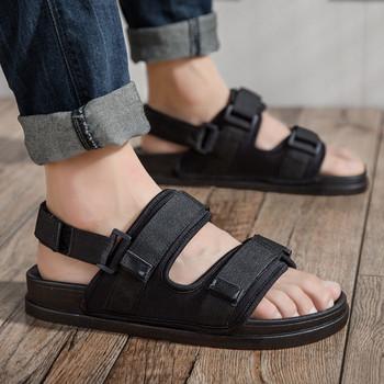 Летни текстилни сандали с велкро лепенки