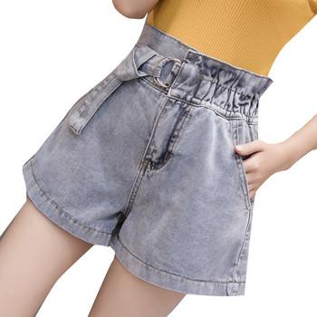 Нов модел летни къси дънкови панталони с колан